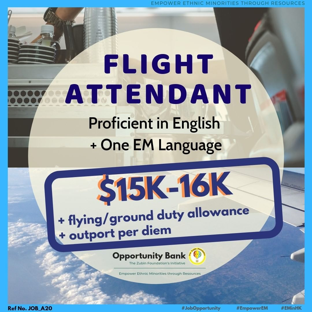 Job Opportunity X Flight Apply Now Flight Attendant Ref No A20