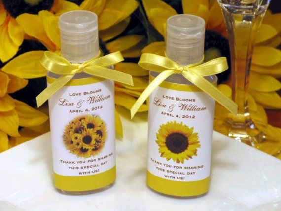 Sunflower Birthday Baby Shower Bridal Shower Wedding Hand