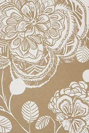 Anthropologie Block Begonia Wallpaper
