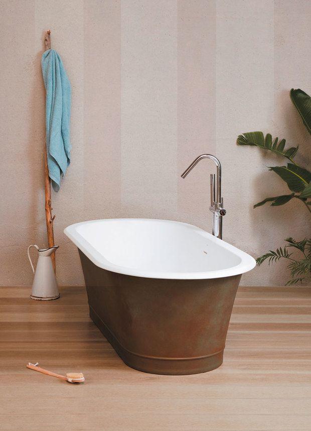 Las bañeras exentas están de moda. Nos encantan los ...