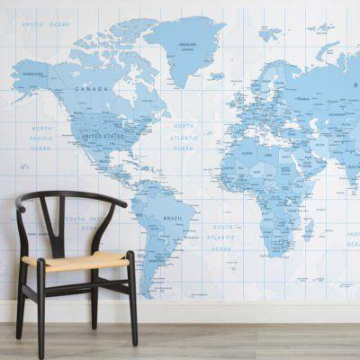 Classic world map wallpaper wall mural muralswallpaper gumiabroncs Images