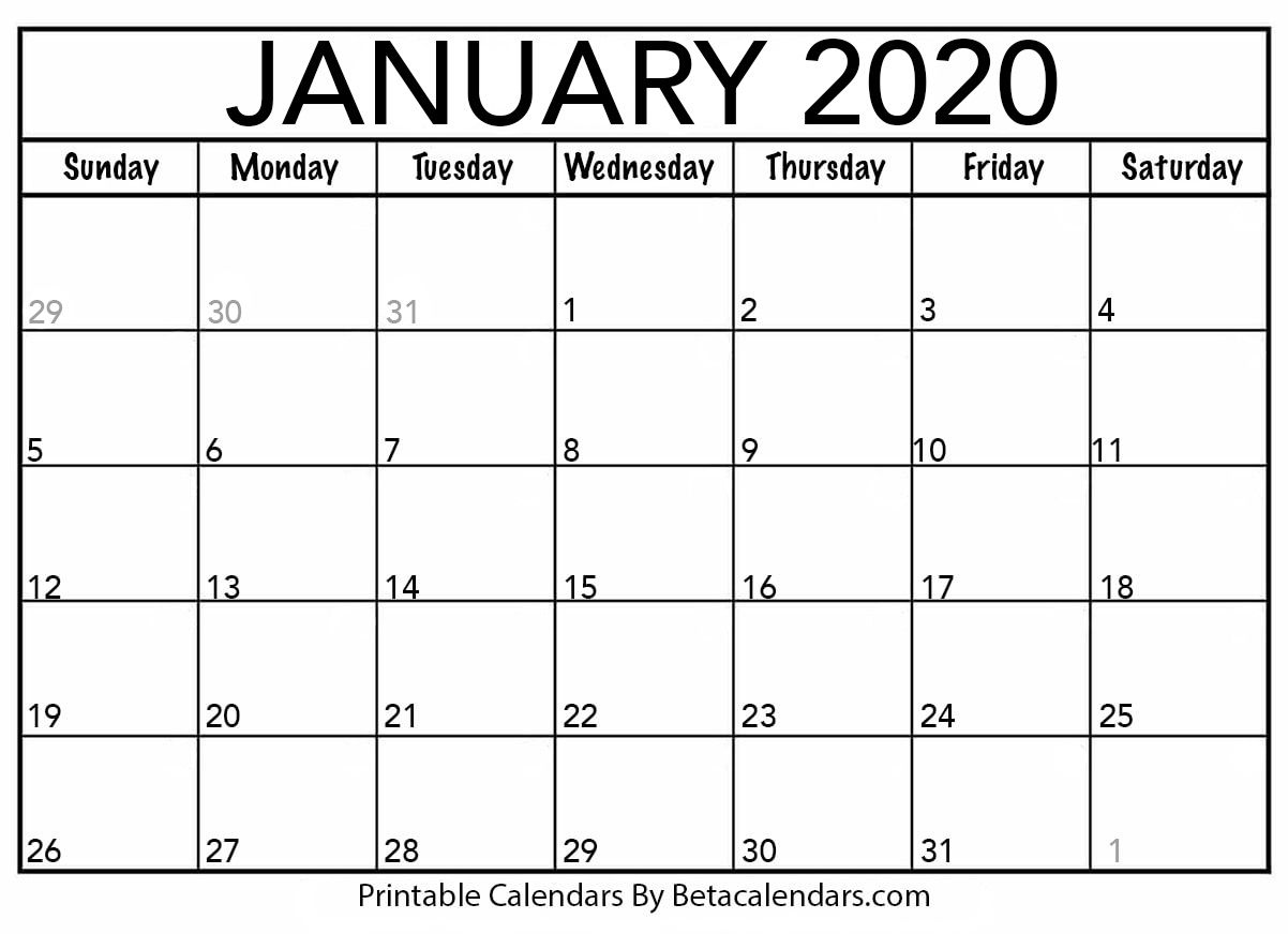 January 2020 Calendar Template.If You Download Your January 2020 Calendar Template You Will See