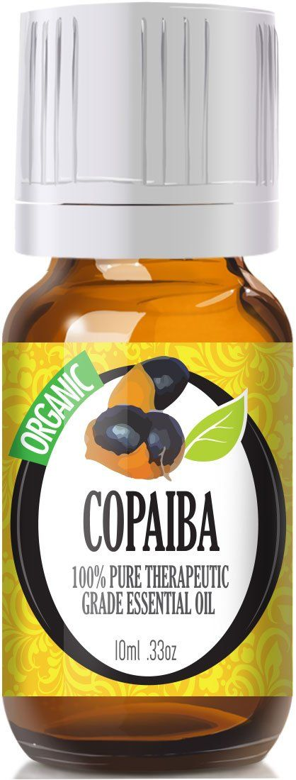 Copaiba (Organic) 100% Pure, Best Therapeutic Grade Essential Oil - 10ml