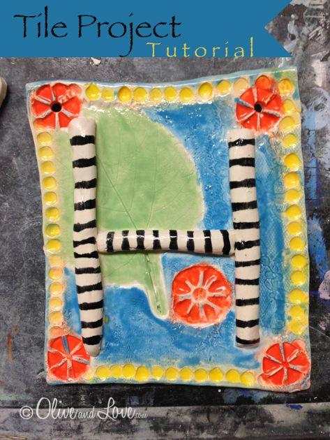 Letter Tile Clay Tutorial Elementary School Children