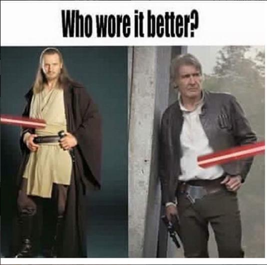 Who Wore It Better Brutal Starwars Meme Sga Http Www Sogeekinawesome Com Who Wore It Better Star Wars Memes Star Wars Humor Star Wars Fandom