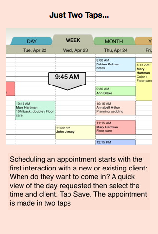 Rendezvous for the iPad makes scheduling appointments so