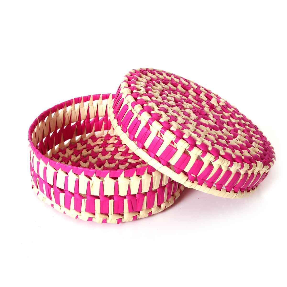 Palm Leaf gift box round 9X3 by #wedtree #returngifts #palmleaf ...