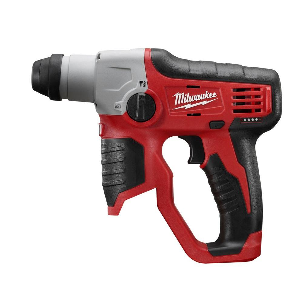 Milwaukee M12 12 Volt Lithium Ion Cordless 1 2 In Sds Plus Rotary Hammer Tool Only Hammer Tool Hammer Drill Milwaukee Tools