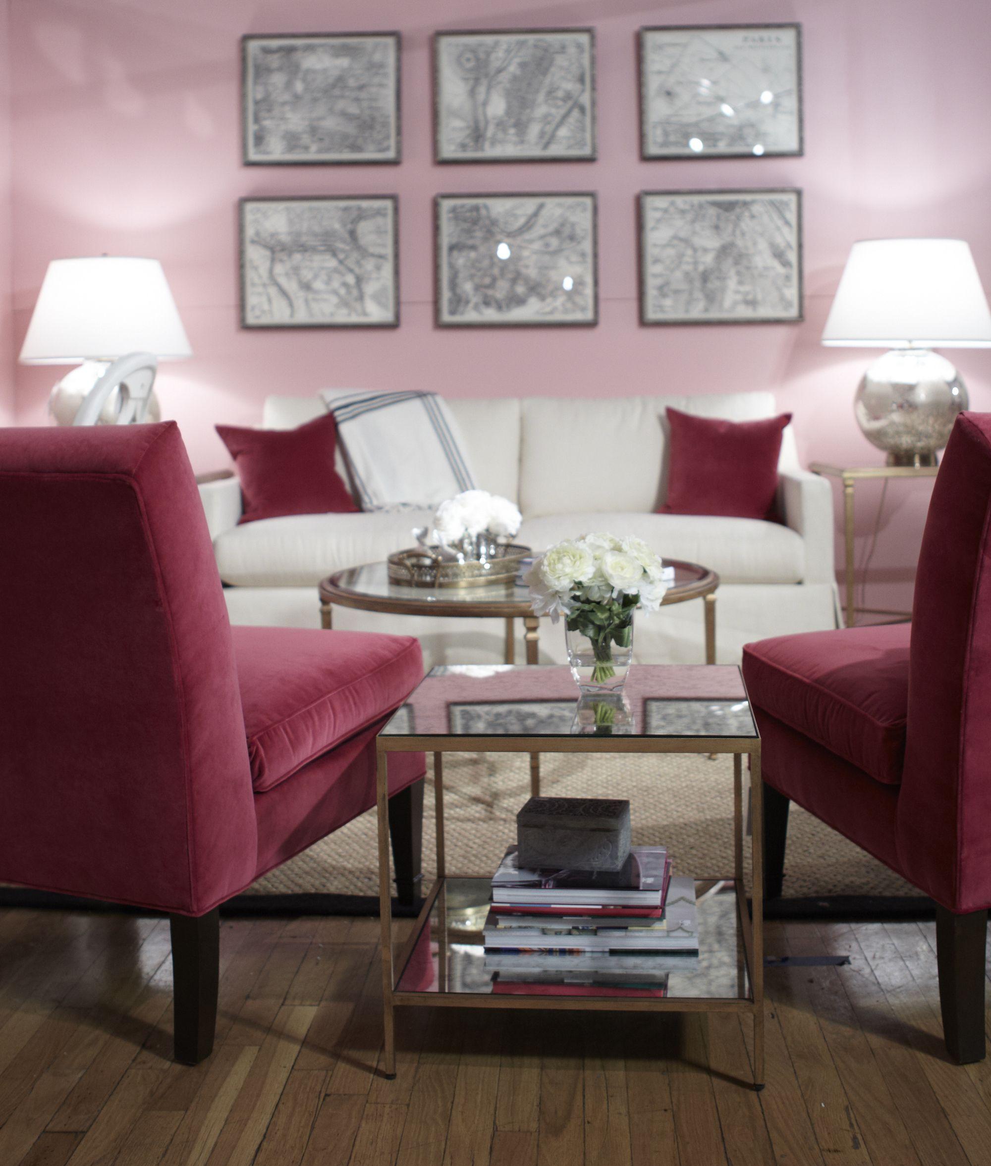 A Carrie Bradshaw inspired living room vignette designed for