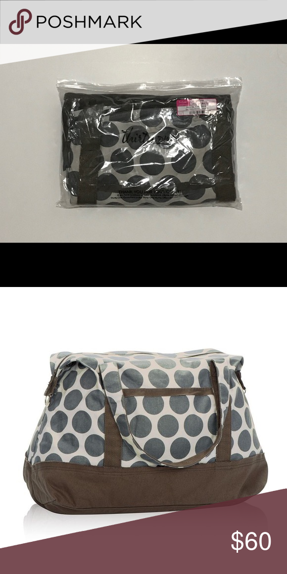 New Thirty One Retro Metro Weekender gray mod dot New in