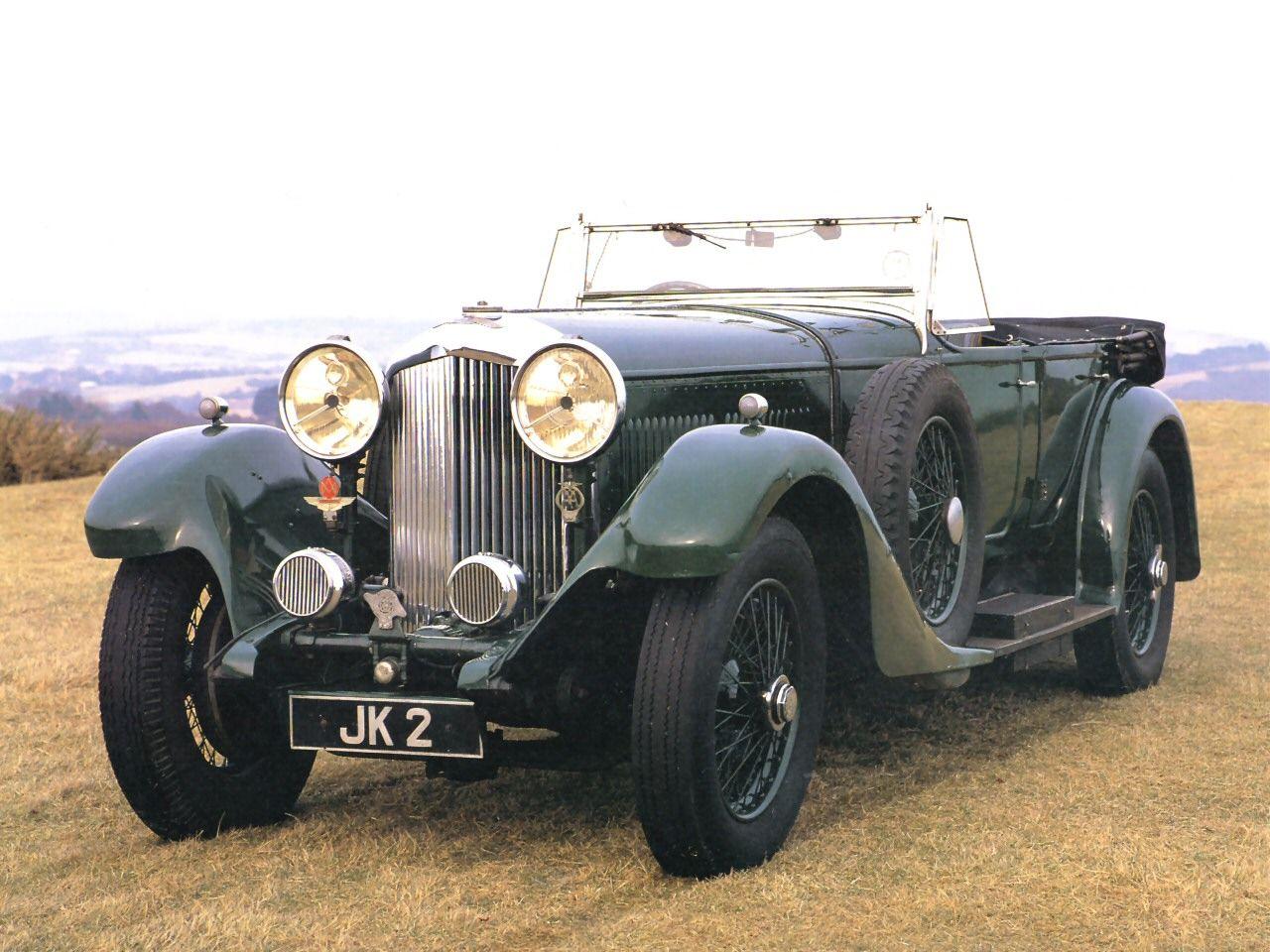 Cars 1931 Bentley 8 0L Touring Car Dark Green Fvl