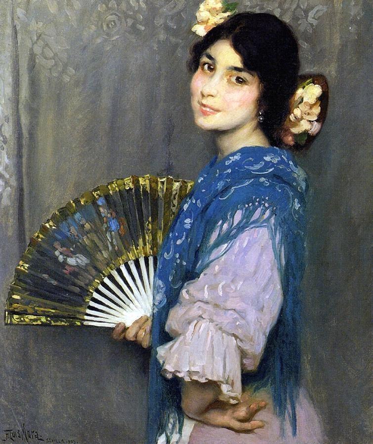 Mercedes by Francis Luis Mora (Uruguayan-born-american-painter 1874-1940)