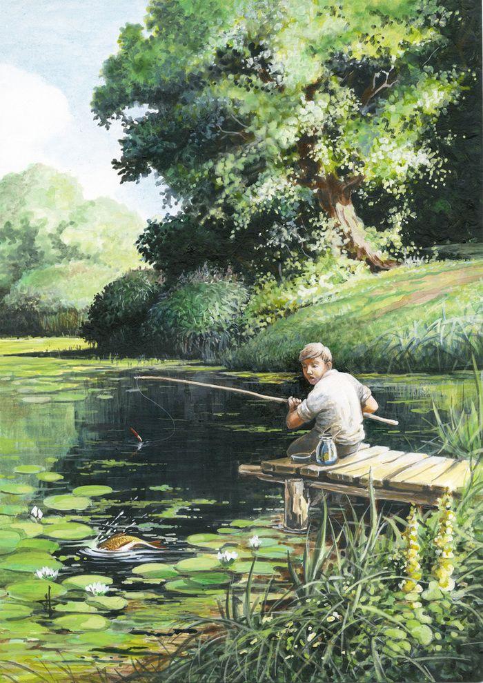 Рыбалка на картинах художников