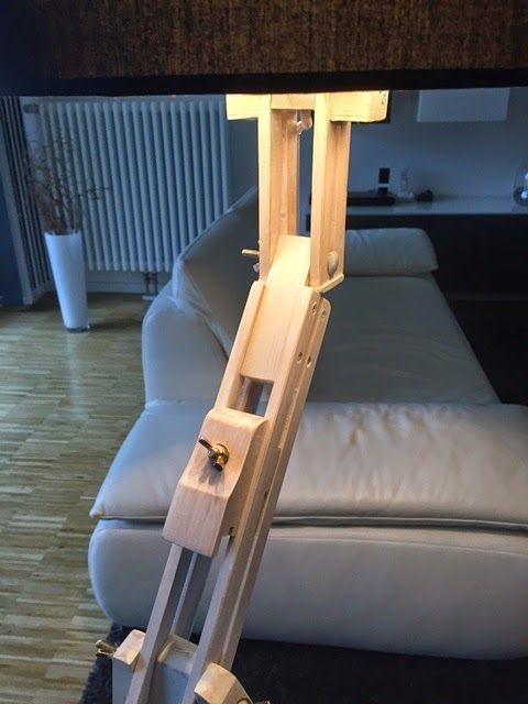 [einzelteil berlin]: [einzelteil] I Stehlampe Staffelei aus Holz