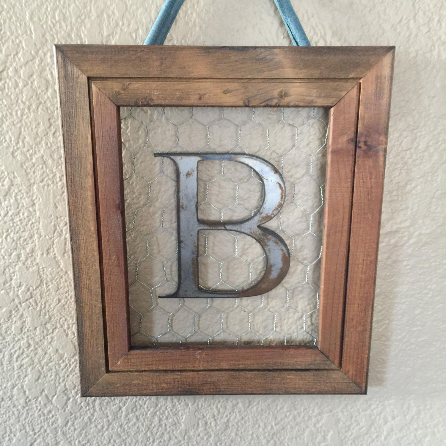 Monogrammed Frame Personalized Frames Personalized Wall Decor Hanging Frames By
