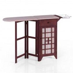 Mueble plancha madera marr n muebles para planchar en - Muebles tu mueble ...