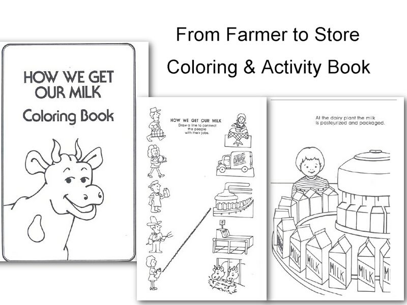 From Farmer To Store Coloring Activity Book Farm Kinder Fun