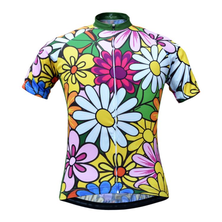 Women s Flower Printing Summer Cycling Bicycle Jerseys Breathable Short  Sleeve Mountain Bike Clothing 2017 Maillot Ropa ee2b0de3c
