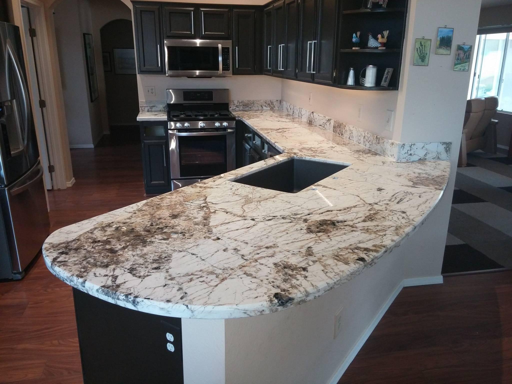 Alpine White White Granite Kitchen Remodel Kitchen Countertops