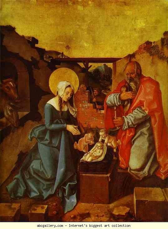 Hans Baldung. The Nativity.