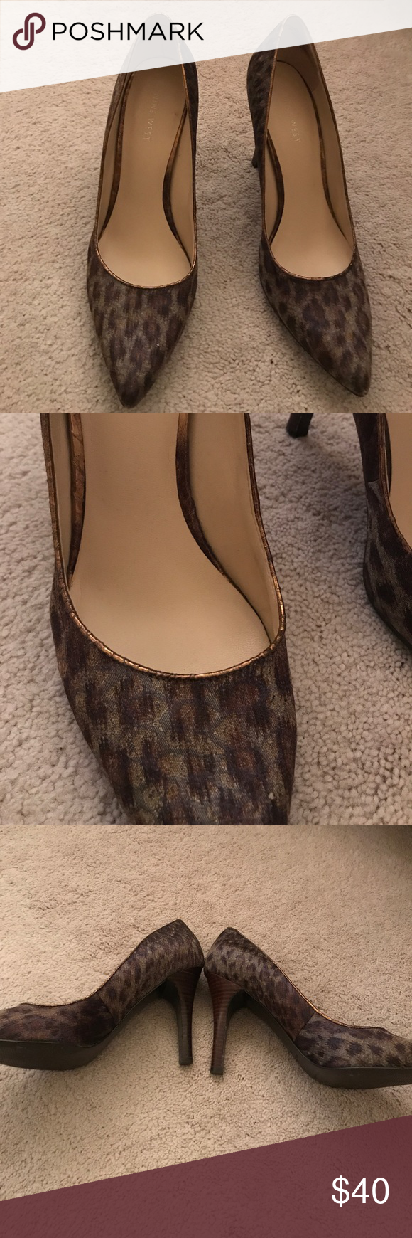 4638ce420f7b Nine West leopard shimmer pumps Almost like new. Worn maybe 2 times ...