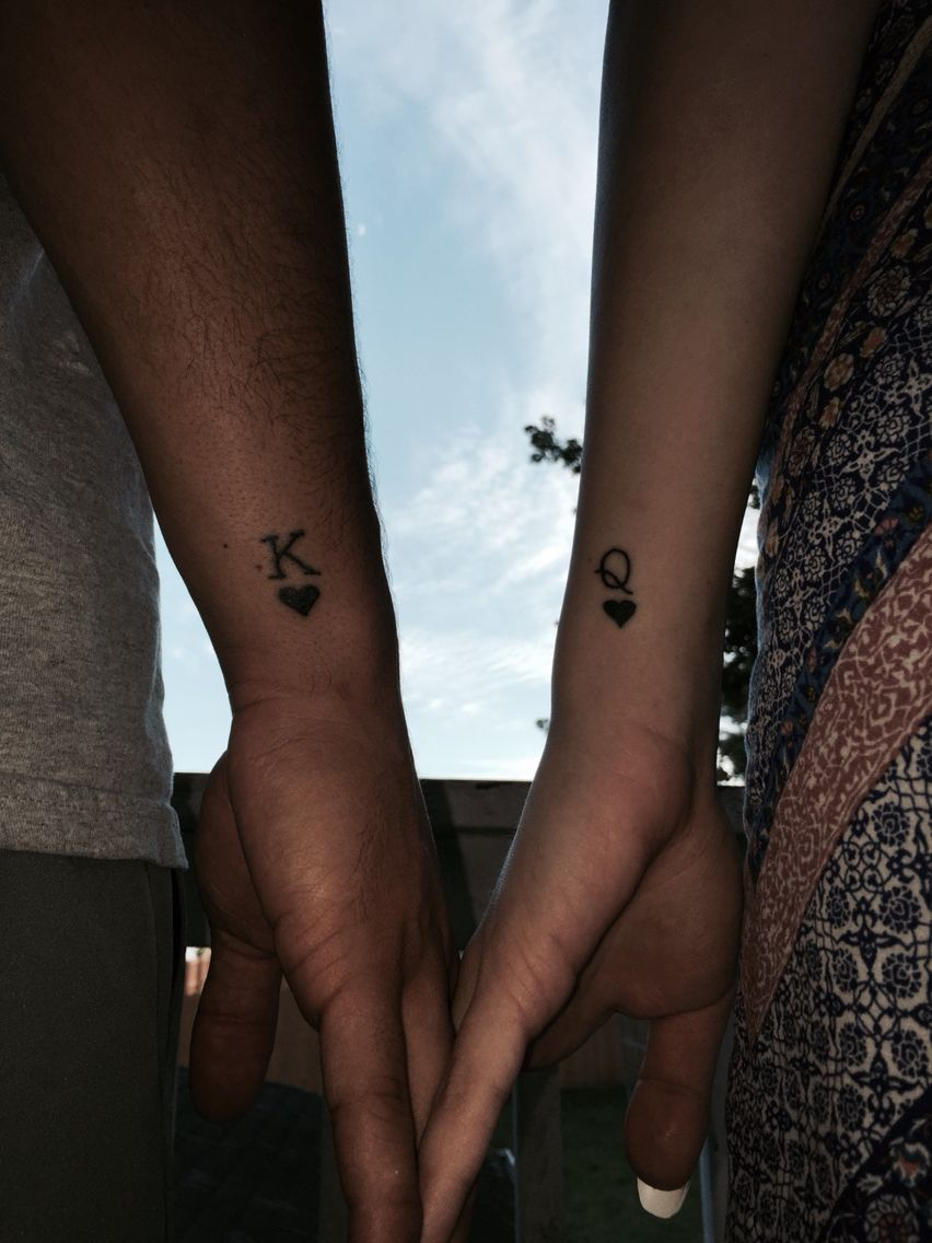 King & Queen couple tattoo