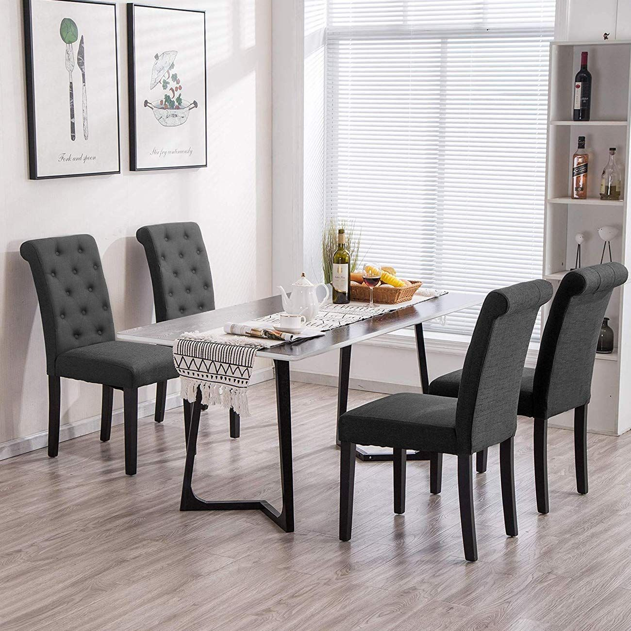 HomeSailing Taupe Dining Chair Set of 8 for Kitchen Restaurant