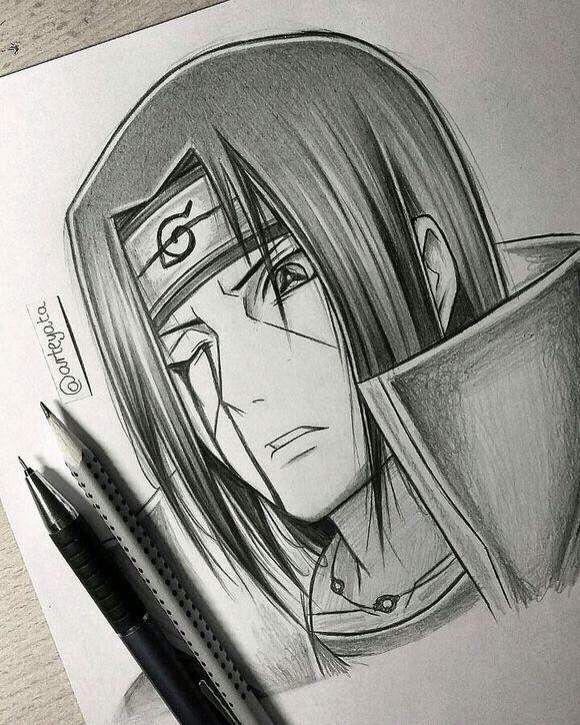 itachi hand drawing by arteyata