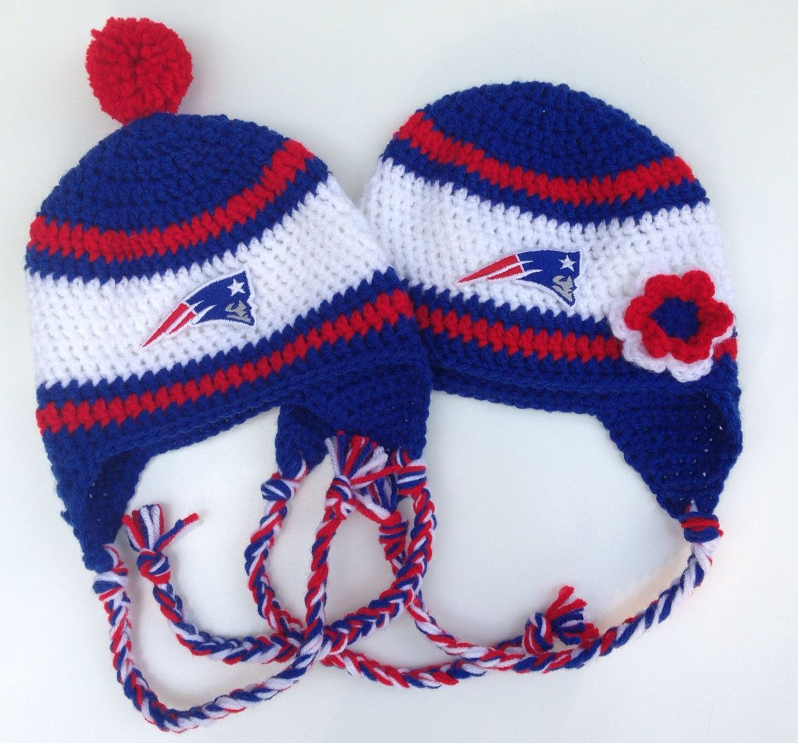 41d212043 New England Patriots Crochet Hat by CraftyIAmKnot on Etsy