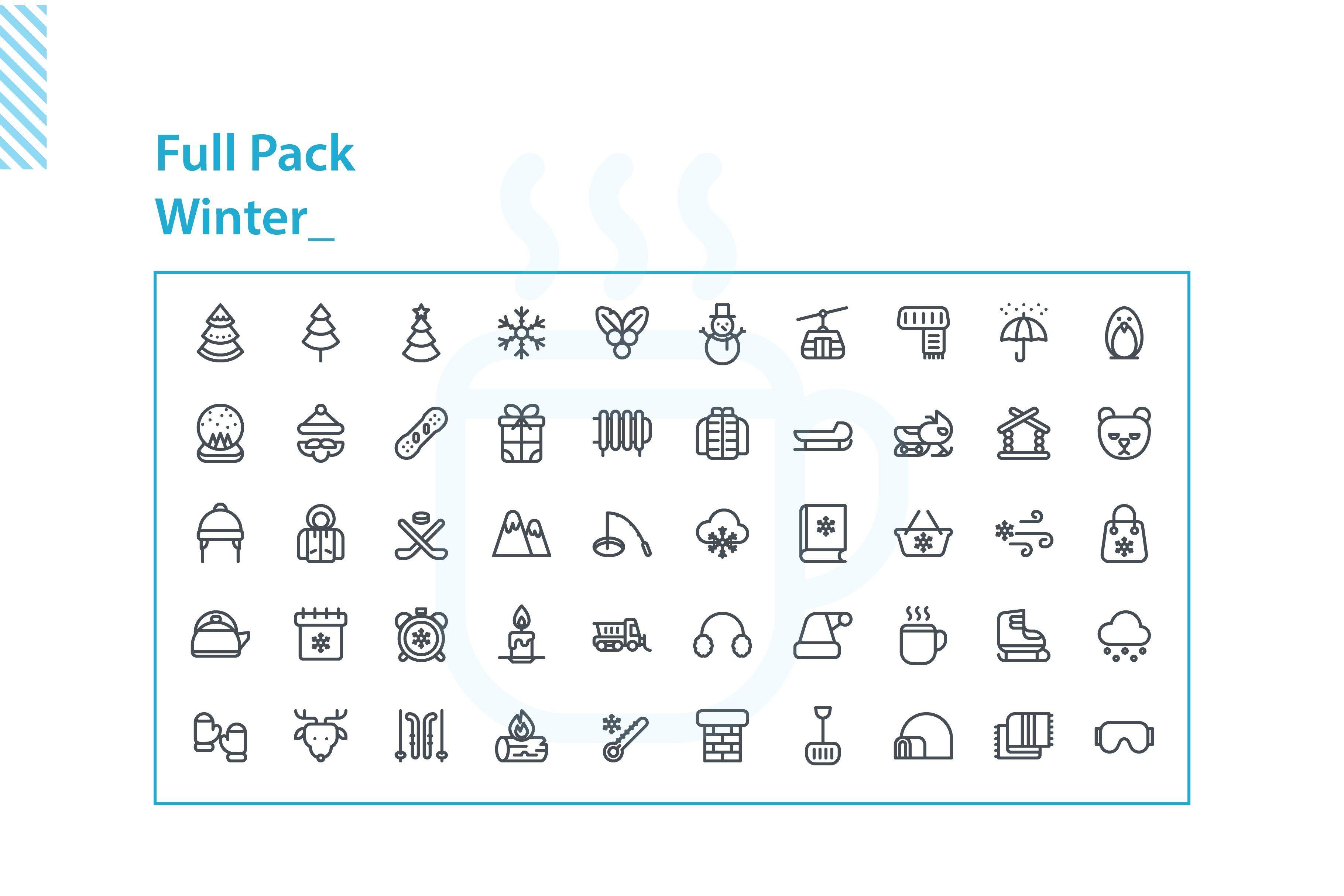 Winter Icon Set ,