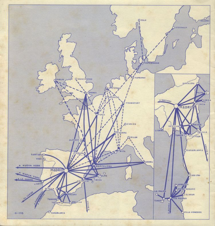 Iberia route map 1958 | Iberia | Map, Sketches on taca route map, biman route map, air china international route map, aegean route map, lufthansa route map, island air route map, independence air route map, ba cityflyer route map, europe by air route map, s7 route map, eastern air lines route map, luxair route map, air niugini route map, houston route map, tiger air route map, saudia route map, xl airways route map, royal jordan route map, ethiopian air route map,