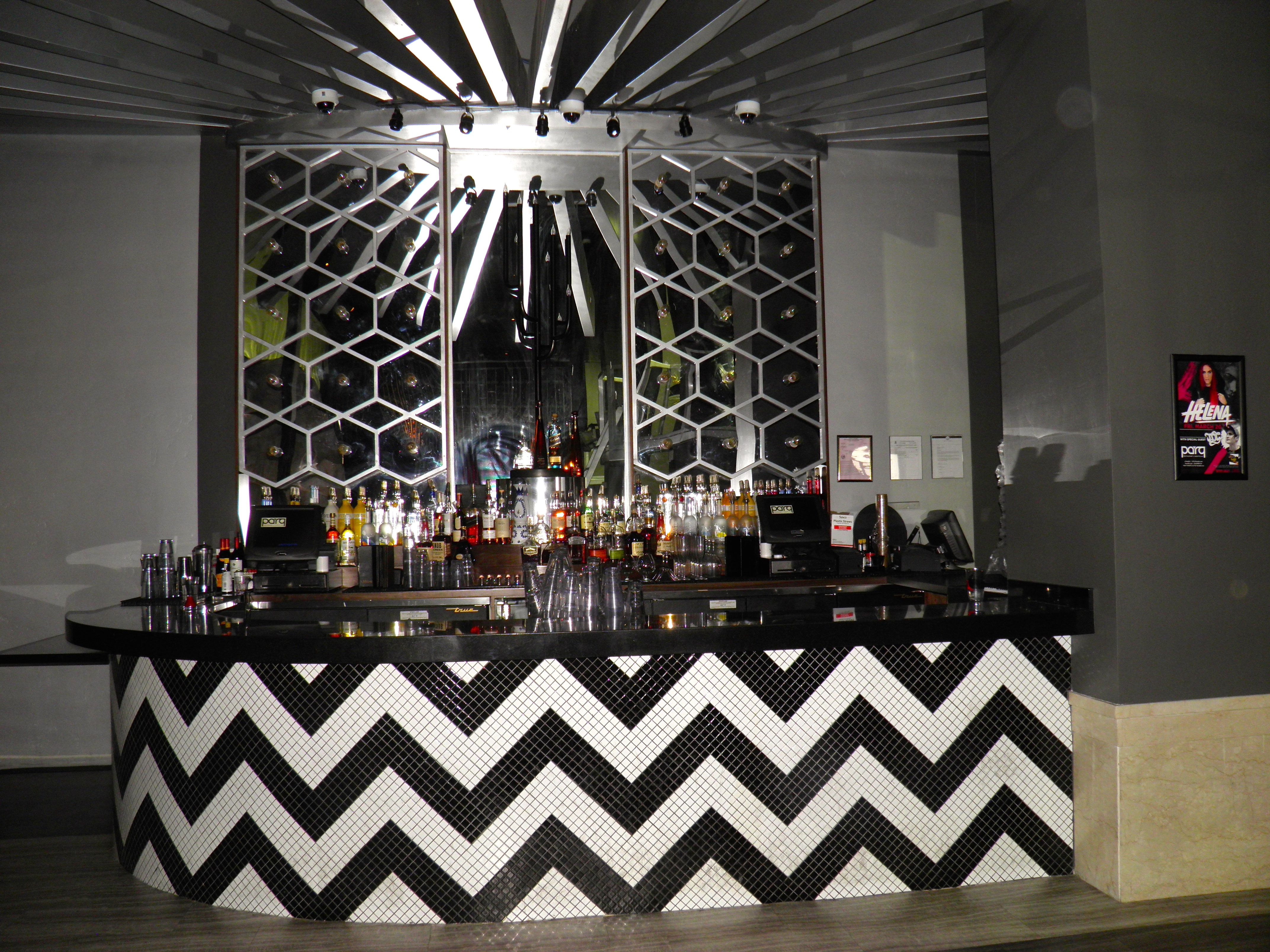 The small bar in the nightclub side of Parq!