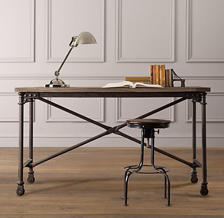 Charmant Mini Flatiron Desk From Restoration Hardware Baby U0026 Child (metal And Wood  With Stool Chair)