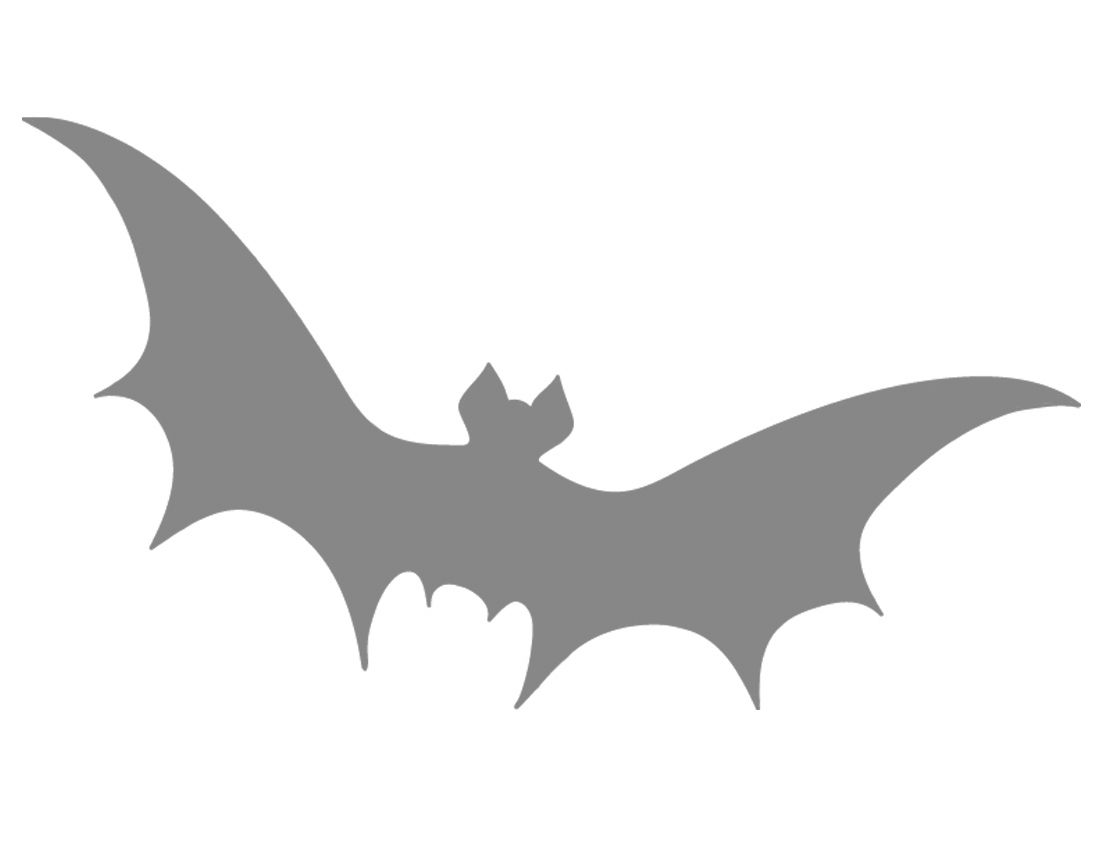 image about Bat Outline Printable identified as Printable Bat Stencil - Coolest No cost Printables Holiday seasons