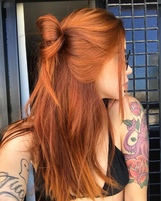 Copper Red Hair Color and Hairstyles -