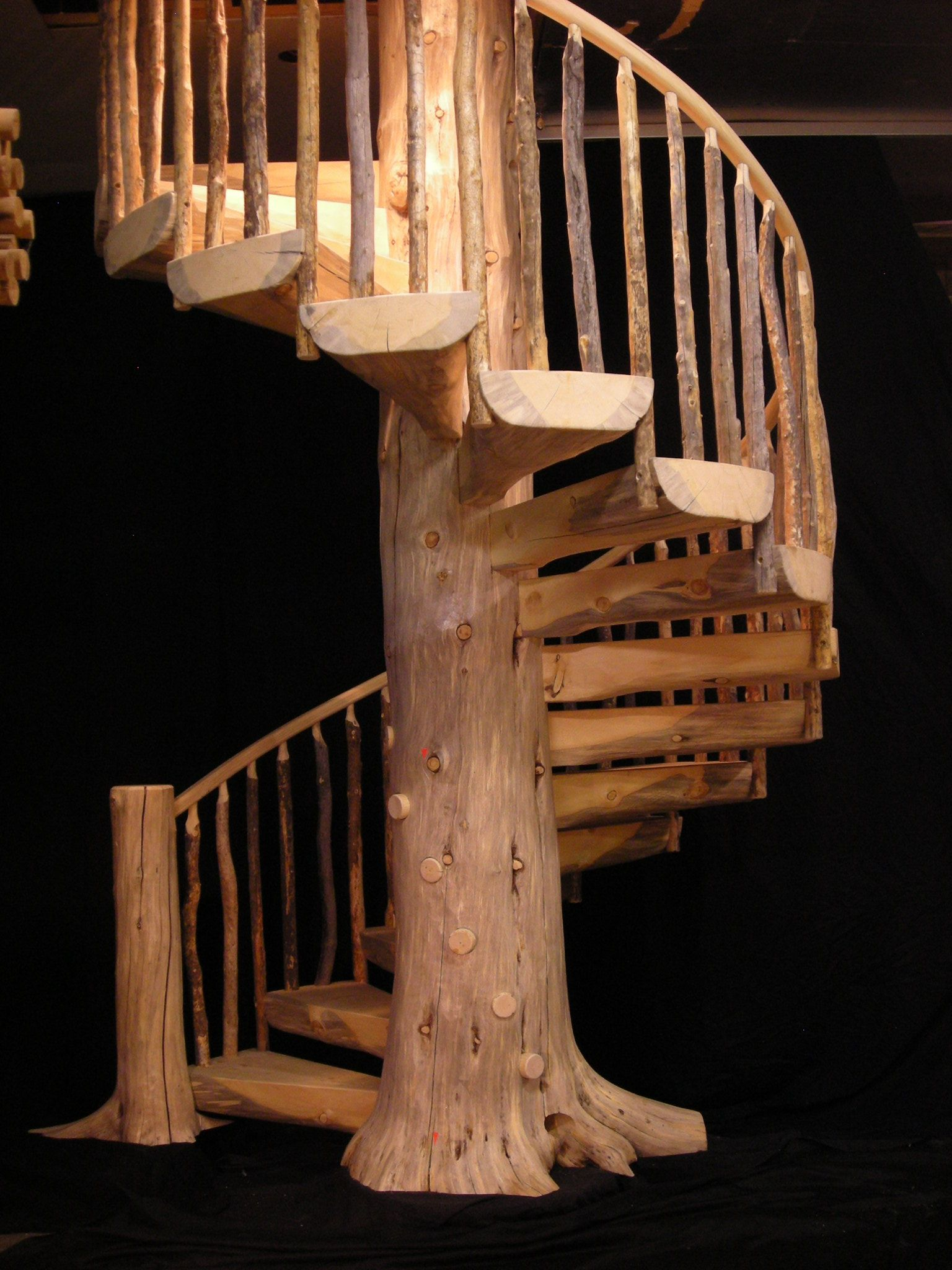 Best Rustic Circluar Staircases Custom Wood Stairs Gallery 400 x 300