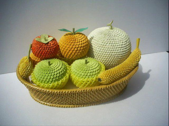 3D Origami Fruit Basket