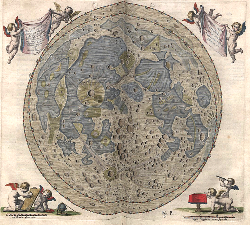 Who Published The First Moon Map Map of the Moon by Johannes Hevelius, 1645. From his Selenographia