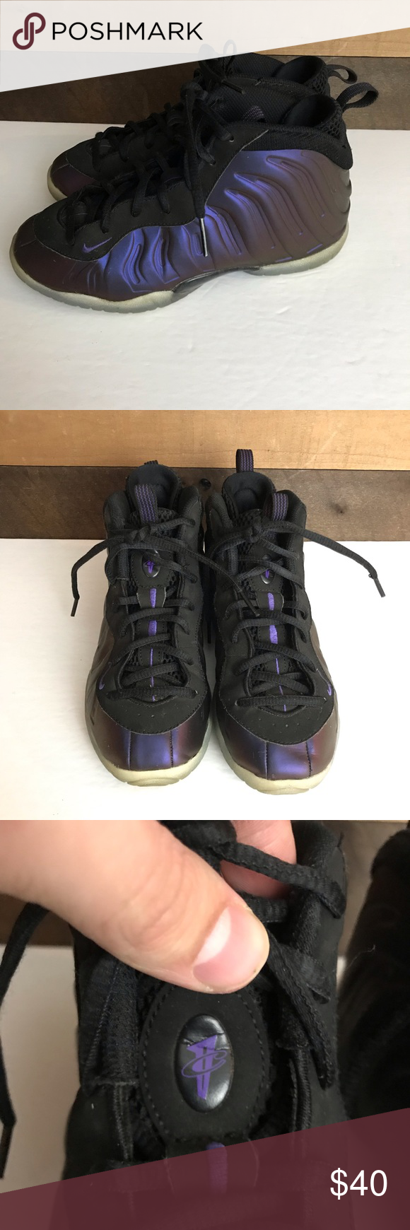 d8e6af205da50 Nike foamposite Purple eggplant penny youth 3y Nike Air Lil Posite  Foamposite One