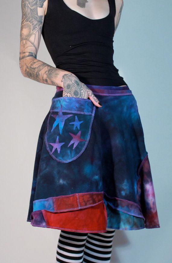 Night Sky Patchwork skirt