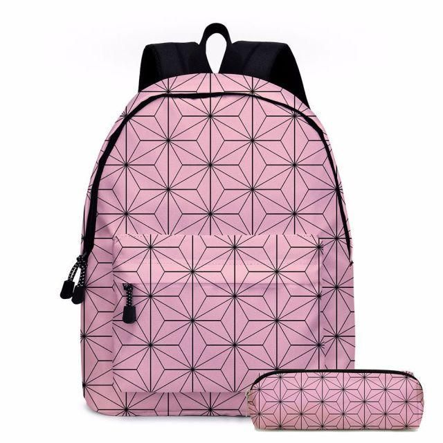 Photo of Demon Slayer Cosplay Schoolgirl Schoolbag Anime Backpack – Sky Blue