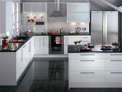 Modern White Shaker Kitchen modern white kitchen. trendy modern kitchen islands ultra modern
