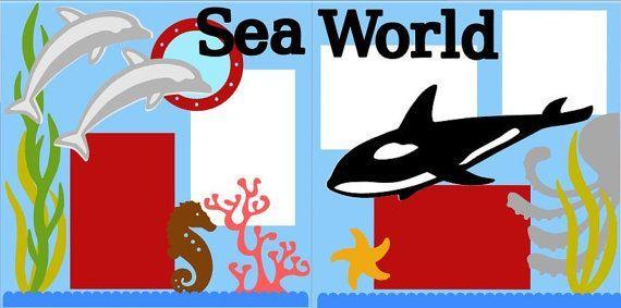 Sea world 2 page 12x12 do it yourself scrapbook kit on etsy 700 sea world 2 page 12x12 do it yourself scrapbook kit on etsy solutioingenieria Choice Image