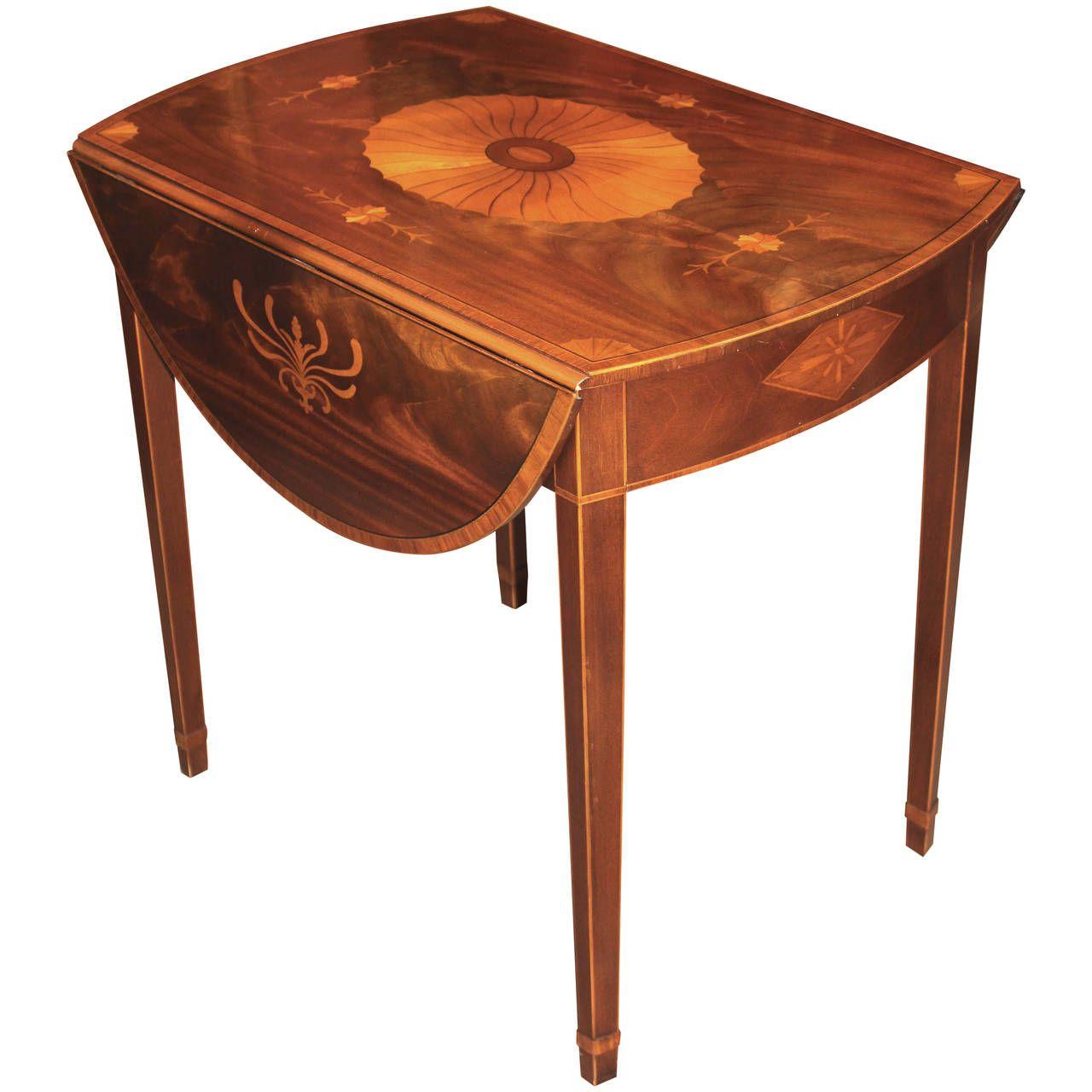 Baker Furniture Inlaid Pembroke Table - Baker Furniture Inlaid Pembroke Table Baker Furniture, Tables