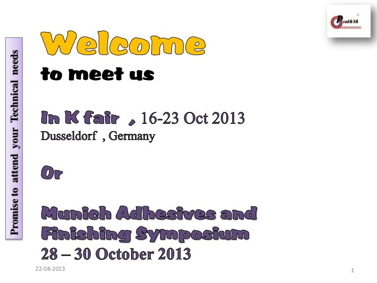 we-welcome-you-to-meet-us-in-k-fair-2013-at-dusseldort-or-munich-germany by Shrikant Athavale via Slideshare