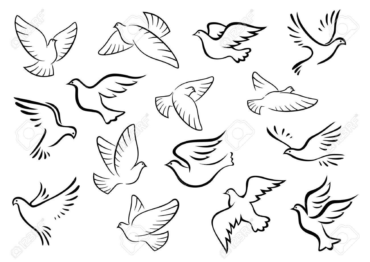 Resultado De Imagen Para Como Bordar Una Paloma A Mano Vogel Skizze Tauben Tattoo Taube Zeichnung