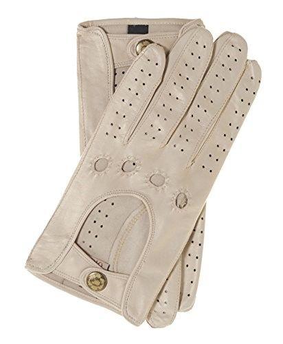 5c37ec58f Fratelli Orsini Women's Italian Leather Driving Gloves Size 8 Color Cream