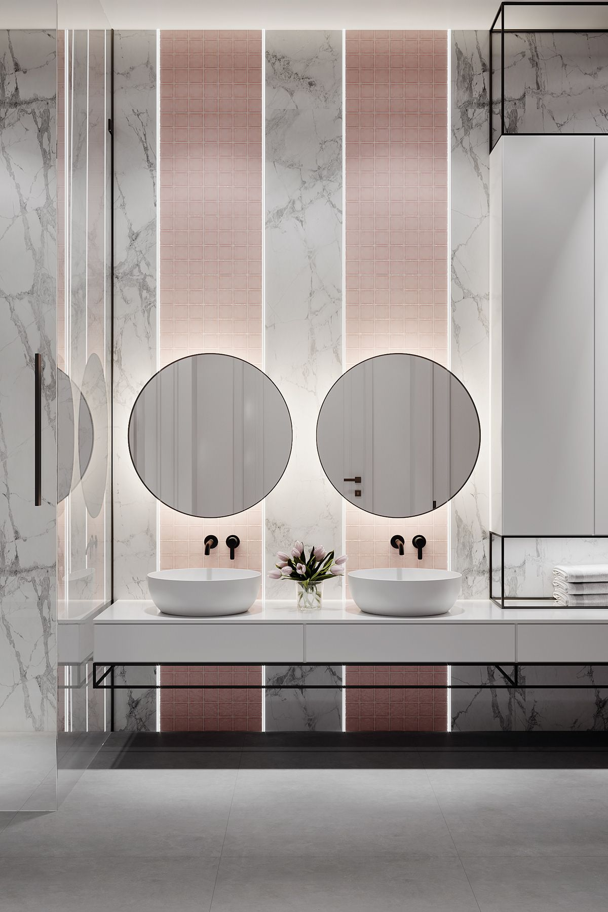 Tikhayapartment On Behance Neoclassical Interior Design Contemporary Bathroom Designs Bathroom Trends