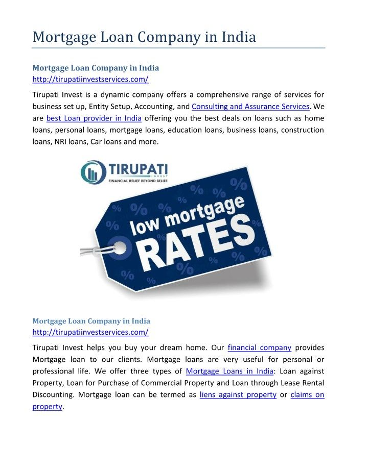 Mortgage loan company in india Loan companies and India - income verification form