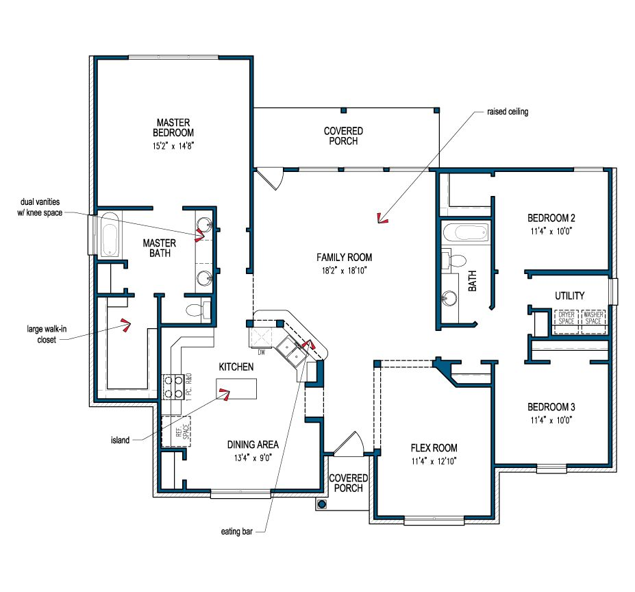 Guadalupe Floor Plans New House Plans House Plans